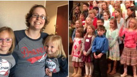 Cette petite fille qui se trémousse pendant le chant de la chorale de son église vous réchauffera le cœur