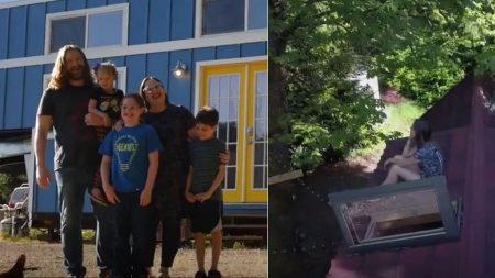 Une famille de 5 personnes construit une MINI-maison – et je suis encore plus stupéfait de voir à quoi ressemble l'intérieur