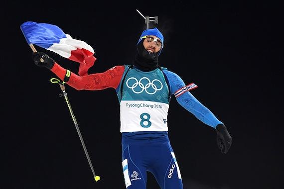 Martin Fourcade champion olympique de la poursuite aux JO-2018