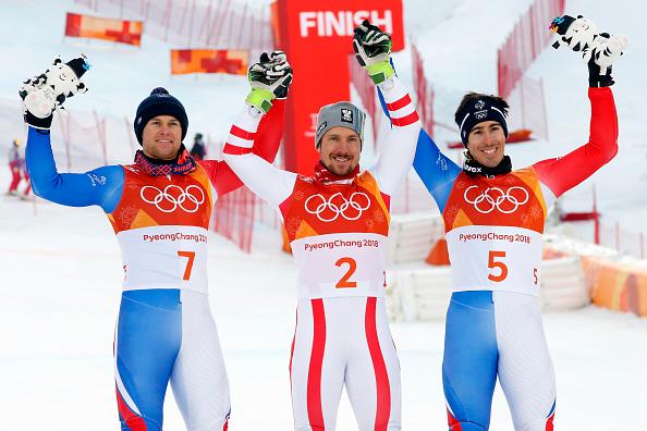 JO 2018: Alexis Pinturault et Victor Muffat-Jeandet sur le podium du combiné alpin