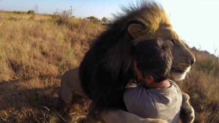 Un homme erre dans les terres sauvages d'Afrique et est très apprécié des animaux