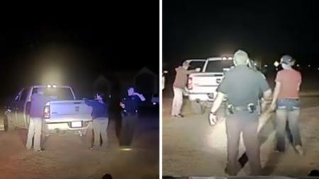 Un policier arrête un camion en pleine nuit. Après l'appel des renforts par radio, l'intrigue se dénoue
