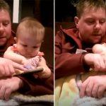 Ces adorables gamines sont sérieuses. Elles disent clairement que le papa ne peut pas toucher à leurs jouets… «Non! Non! Non! Non!»