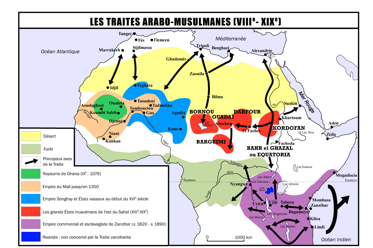 carte  traites arabo musulmanes