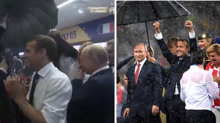 Ce moment où les Bleus ont tenté d'arroser Vladimir Poutine… mais les gardes du corps sont intervenus