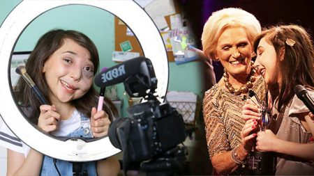 Une jeune fille de 12 ans avec un visage défiguré surmonte la négativité – encouragée par son vlog YouTube