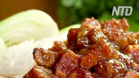 Porc braisé sur lit de riz (Lu Rou Fan)