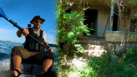 L'équipe de l'émission YouTube Brave Wilderness se dirige vers une maison effrayante autour des Grands Lacs