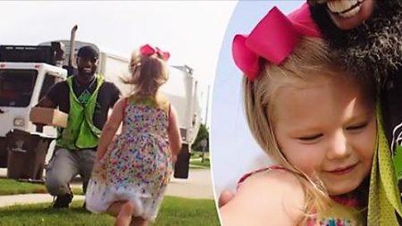 Une petite fille offre un petit gâteau d'anniversaire à un éboueur, 6 mois plus tard, c'est à son tour de la surprendre