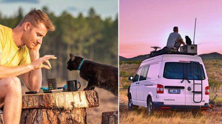 Un homme de Tasmanie quitte son emploi et vend sa maison pour voyager en Australie avec son chat