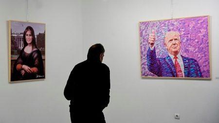 «The Donald» ou quand Trump est la muse d'un peintre albanais