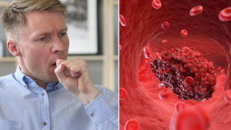Vous toussez, mais vous n'avez pas de rhume? Ces 8 symptômes de caillots de sang pourraient vous sauver la vie