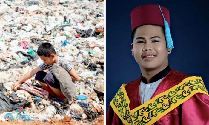 Il a vécu dans une décharge et a perdu ses parents à l'âge de 12 ans, mais est maintenant diplômé d'université