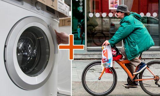 Un vélo «machine à laver» innovant combine un vélo stationnaire au lavage des vêtements