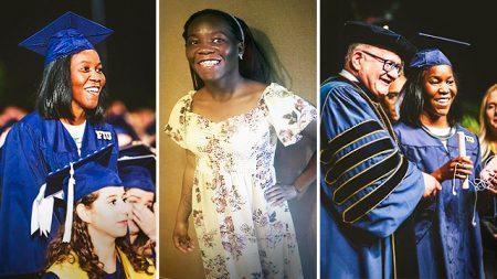 Une étudiante aveugle et sans-abri finit l'université avec un diplôme en psychologie